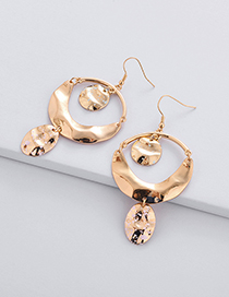 Fashion Gold Color Pure Color Design Hollow Out Earrings