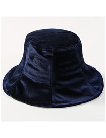 Fashion Navy Pure Color Design Fisherman Hat