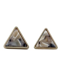 Fashion White Triangle Shape Design Simple Earrings