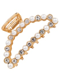 Fashion Gold Color Pearl&diamond Decorated Hair Clip