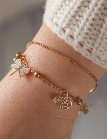 Fashion Gold Color Dragonfly Shape Decorated Bracelet
