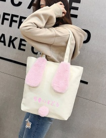 Fashion White Rabbit Ear Shape Decorated Shoulder Bag