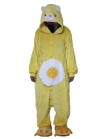 Fashion Yellow Bear Shape Decorated Pajamas