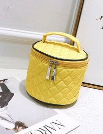 Fashion Yellow Pure Color Decorated Bag