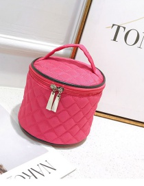 Fashion Plum Red Pure Color Decorated Bag