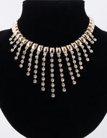 Fashion Gold Color Tassel Design Pure Color Choker