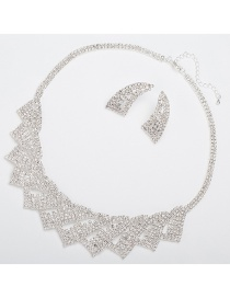 Fashion Silver Color Irregular Shape Design Bridal Jewelry Sets