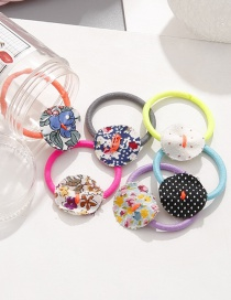 Lovely Muti-color Flowers Pattern Decorated Baby Hair Band (6pcs)