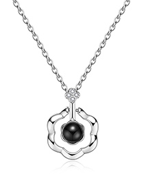 Fashion Silver Color Geometric Shape Decorated Long Necklace