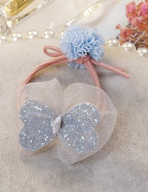 Fashion Light Blue Bowknot Shape Decorated Hairband