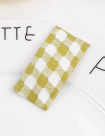 Fashion Yellow+white Grids Pattern Decorated Hair Clip
