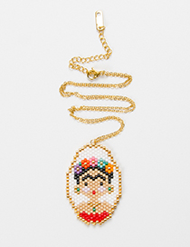 Fashion Gold Color Cartoon Pattern Decorated Necklace