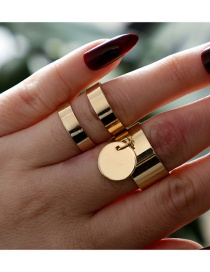 Fashion Gold Color Pure Color Decorated Rings(2pcs)