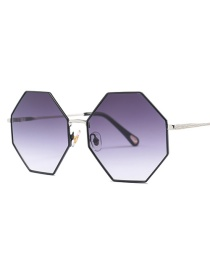 Fashion Light Purple Geometric Shape Decorated Sunglasses