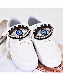 Fashion Blue Eye Shape Decorated Shoe Buckle