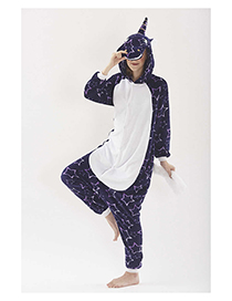 Fashion Blue Star Pattern Decorated Unicorn Pajamas