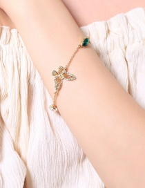 Fashion Gold Color Butterfly Shape Decorated Bracelet