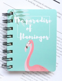Fashion Blue Flamingo Pattern Decorated Notebook(100 Sheets)