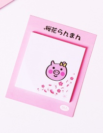 Fashion Pink Pig Pattern Decorated Post-it Note(30 Sheets)