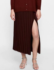 Fashion Brown Pure Color Decorated Dress
