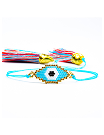 Fashion Multi-color Eye Shape Decorated Tassel Bracelet
