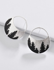 Fashion Silver Color Tree Pattern Decorated Earrings