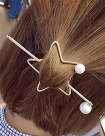 Fashion Gold Color Star Shape Decorated Hair Accessories