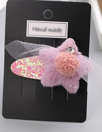 Fashion Pink Star Shape Decorated Hair Clip