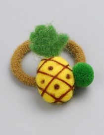 Fashion Yellow Pineapple Shape Decorated Hair Rope