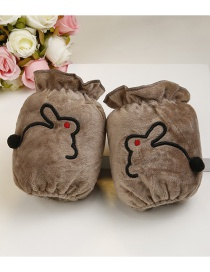 Fashion Brown Rabbit Pattern Decorated Sleeve For Child