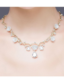Fashion Gold Color Diamond&flowers Decorated Jewelry Sets