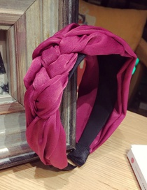 Fashion Plum Red Pure Color Decorated Hair Hoop