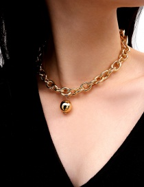 Fashion Gold Color Ball Shape Decorated Necklace