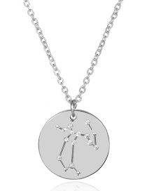 Fashion Silver Color Sagittarius Shape Decorated Necklace