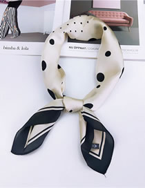 Fashion Beige Dots Pattern Design Literary Scarf