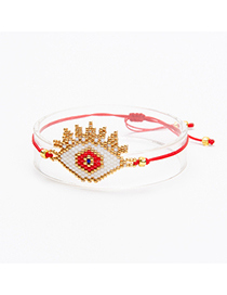 Fashion Red Beads Decorated Eye Shape Bracelet