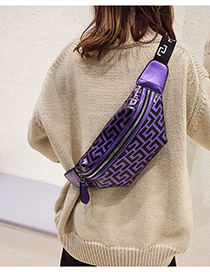 Fashion Purple Zippers Decorated Leisure Travel Bag