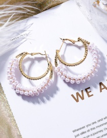 Fashion White Pearl Decorated Round Earrings