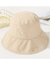 Fashion Beige Pure Color Decorated Sunshade Hat