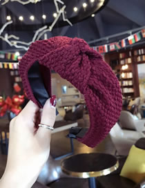Simple Claret Red Pure Color Decorated Hair Hoop