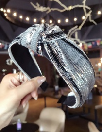 Fashion Gray Sequins Decorated Hair Hoop