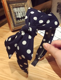 Elegant Navy+white Bowknot Shape Decorated Hair Clip