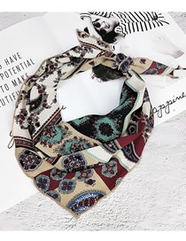Fashion Red Cashew Pattern Decorated Small Scarf