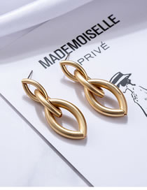 Fashion Gold Color Multi-layer Design Oval Shape Earrings
