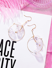 Sweet Gold Color Balls Shape Design Circular Ring Earrings