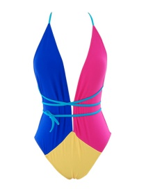 Sexy Multi-color Color Matching Decorated Simplet Swimwear
