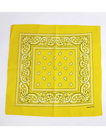 Fashion Yellow Cashew Pattern Decorated Small Scarf