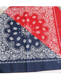 Fashion Red+blue Cashew Pattern Decorated Small Scarf