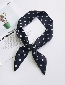 Fashion Black Pure Color Design Dots Pattern Scarf