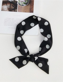 Fashion Black Bigger Dots Pattern Decorated Scarf